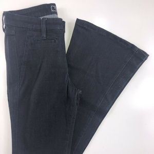 Guess Dark Wash Trouser Flare Mid Rise Jeans DM05
